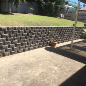 Line Block Retaining Wall